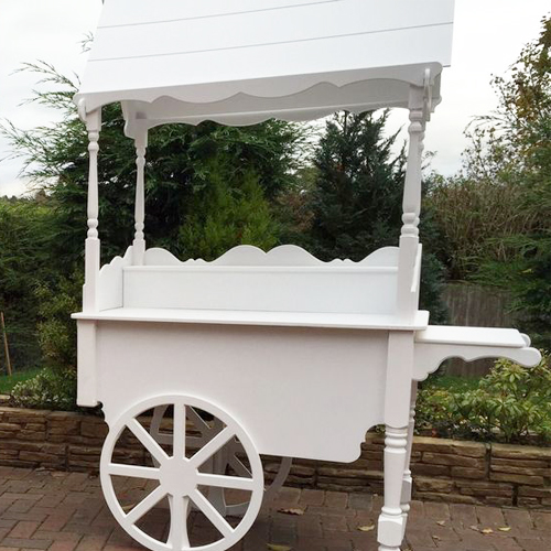 White Sweet Cart Hire