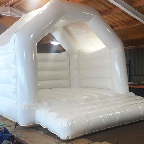 White Bouncy Castle Wedding Hire