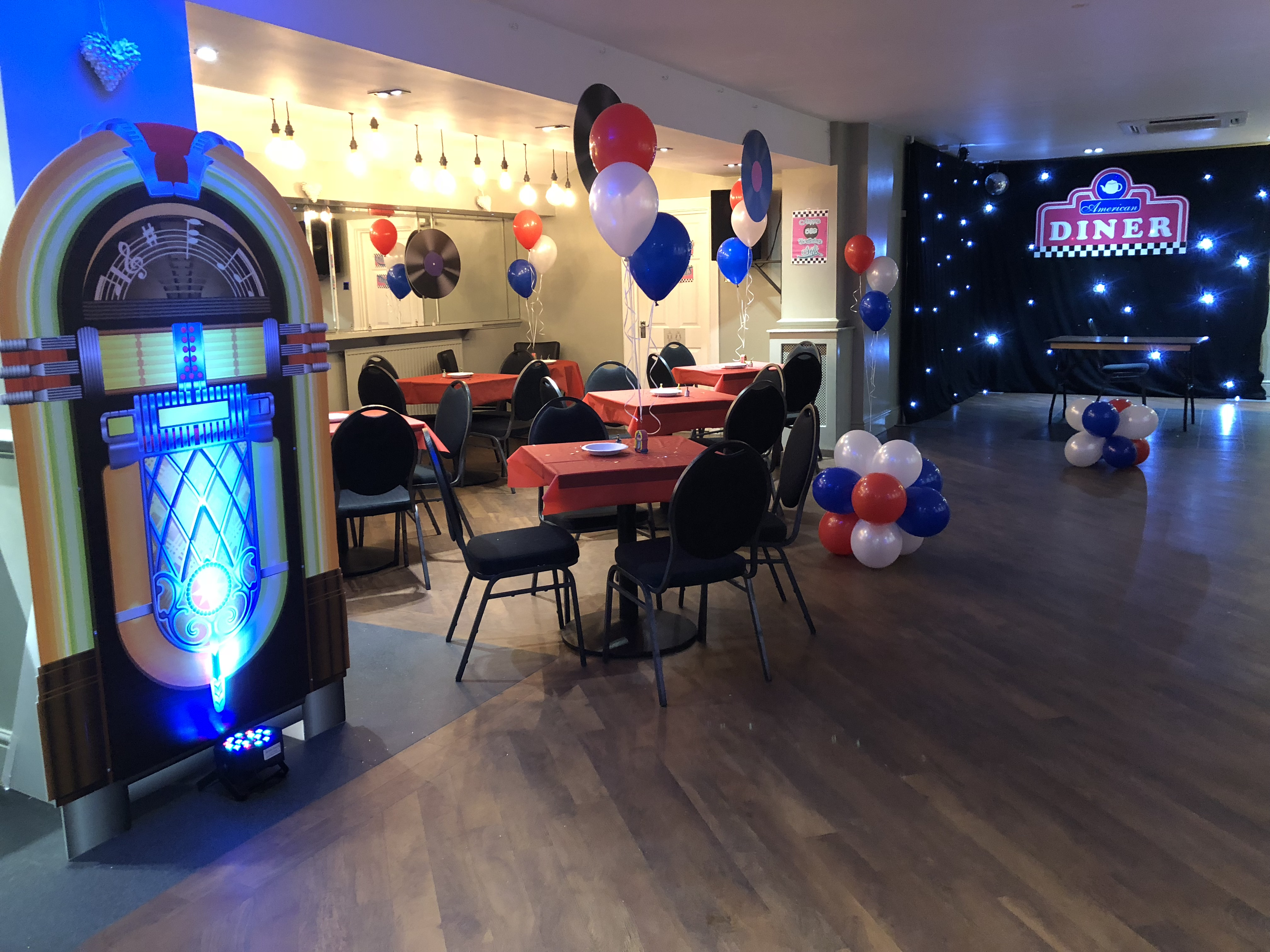 60 u2019s rock and roll theming